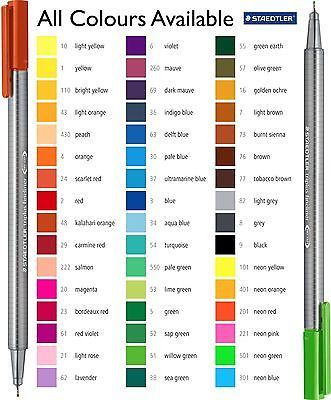 Image Result For Staedtler Triplus Fineliner Color Chart