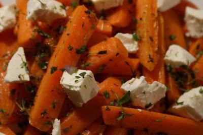 Thi kendes forret: Bagte gulerødder med timian og feta