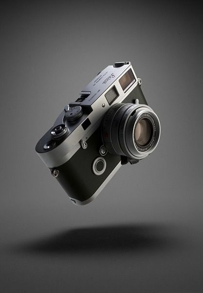 leather and metal –– like a reliable leica
