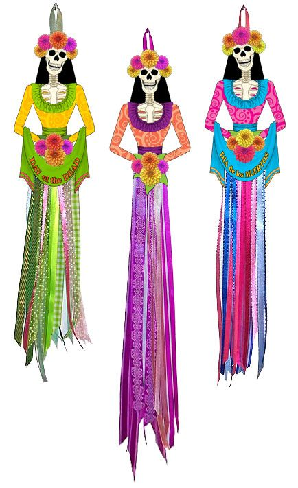 Laughing Catrina Doll Bodies set from Ten Two Studios.