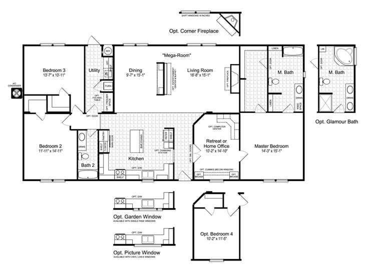 Check Out Our Roomy New Momentum IV MM32643A Or MMT364B1 Home Floor Plan  From Palm Harbor