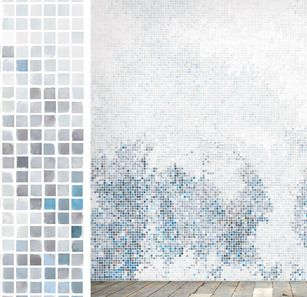 Surface, a Scandinavian company designed this wallpaper. Water colored squares in mosaic.... beautious