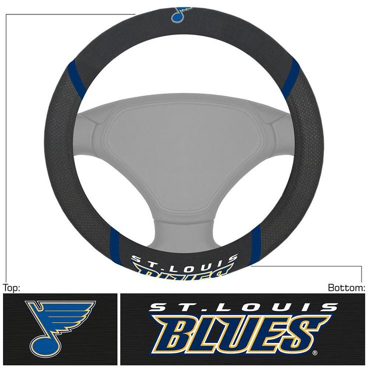 St. Louis Blues NHL Polyester Steering Wheel Cover