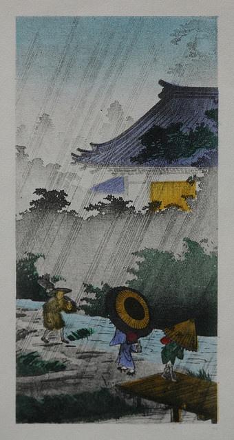 Walking in the rain Kawase Hasui