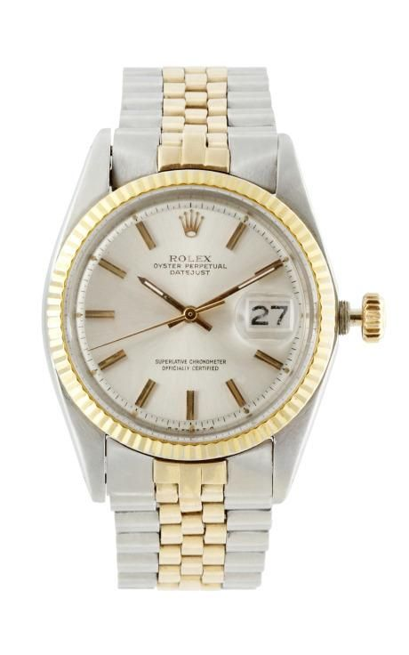 Vintage Rolex Steel And Gold Datejust On Jubilee Bracelet by CMT Fine Watch and Jewelry Advisors for Preorder on Moda Operandi
