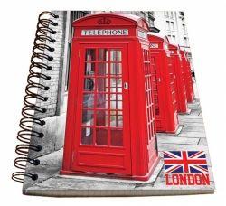 Spirálový blok A5 - Welcome to London č. 21670 SPIR5