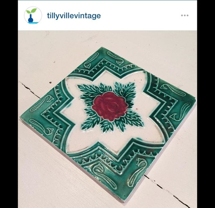 I adore old tiles as decorative pieces around the home.