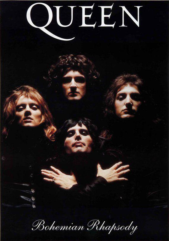 0698 Queen Bohemian Rhapsody Print It Yourself Digital Download Music Poster Queen Albums Vintage Music