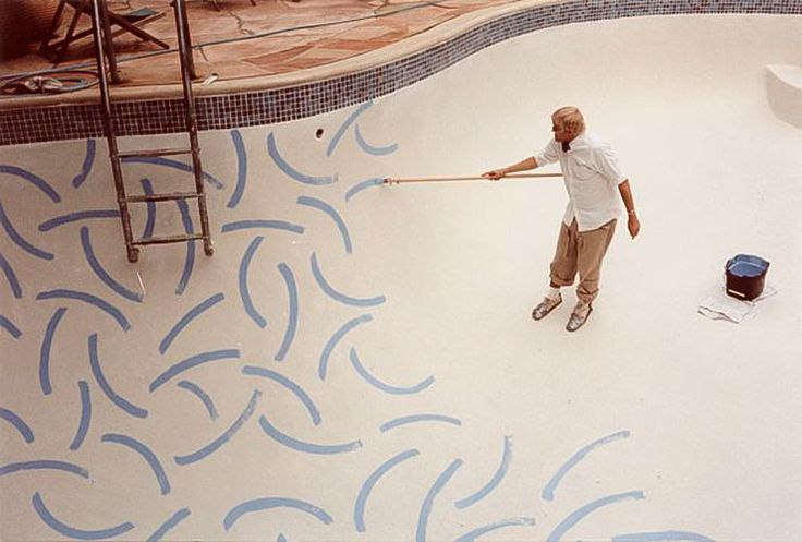 A look into David Hockney's California home, from an Architectural Digest article originally published in April 1983. this house is where he famously painted his pool...
