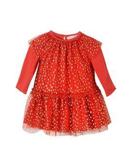 STELLA MCCARTNEY KIDS Baby Girl Red Tulle Party Dress. Shop here: http://www.tilltwelve.com/en/eur/product/1084262/STELLA-McCARTNEY-KIDS-Baby-Girl-Red-Tulle-Party-Dress/