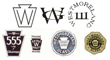 milk glass markings | Westmoreland Glass Company