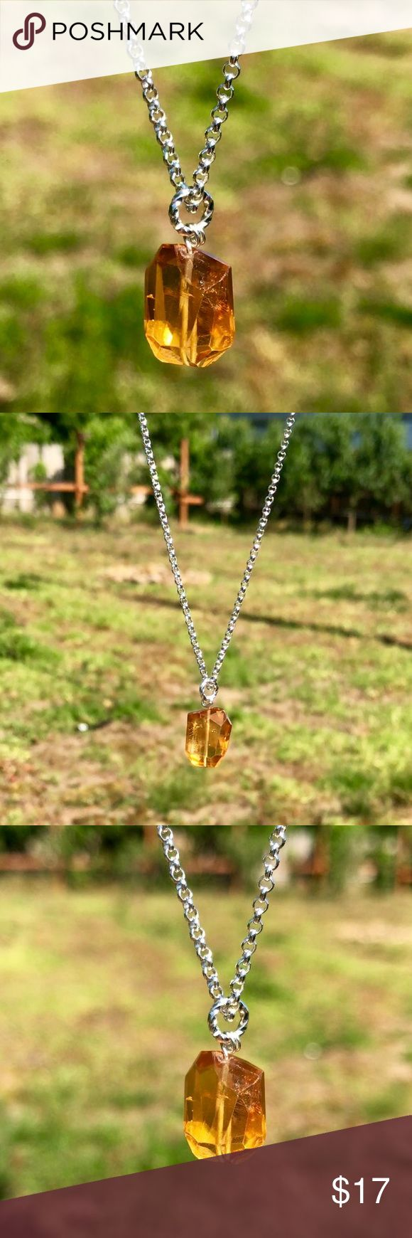 Authentic Citrine Gemstone Necklace! Authentic Citrine Gemstone Necklace! (Bundle 3 listings & Save with my Discount!) #10 NOTE: Anyone asking me to contact/email them outside of Poshmark for any reason will be reported & blocked. Jewelry Necklaces