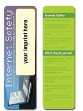 Internet Safety Stock Full Color Digital Printed Bookmark