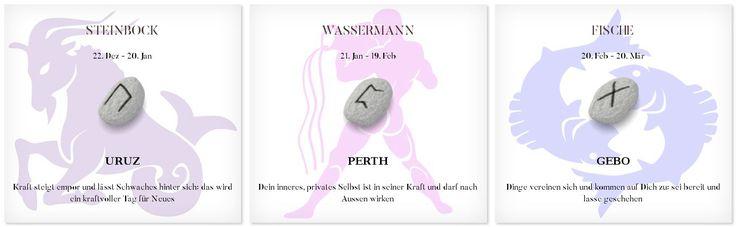 Runen Tageshoroskop 28.2.2017 #Sternzeichen #Runen #Horoskope #steinbock #wassermann #fisch