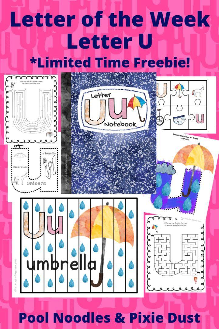 Letter Of The Week Letter U Letter Of The Week Letter U Preschool Freebies