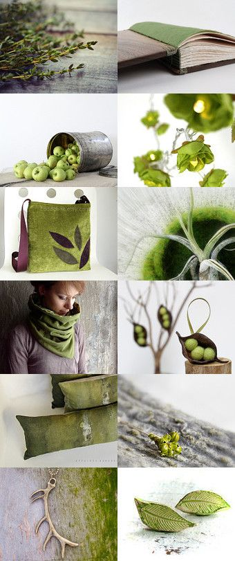 Natural Green by Maria on Etsy--Pinned with TreasuryPin.com