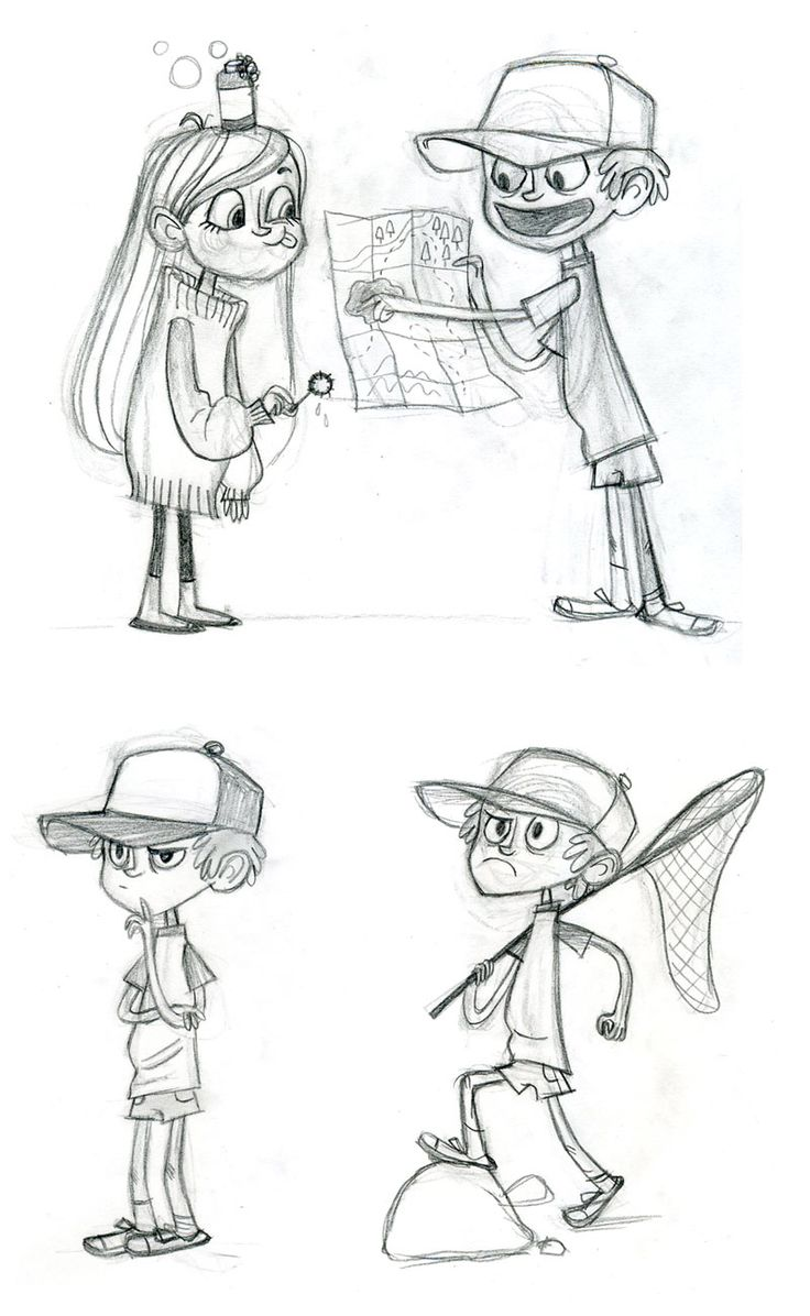 """""""Gravity Falls"""" Characters.  The more I look at them the more I see how perfect they are."""