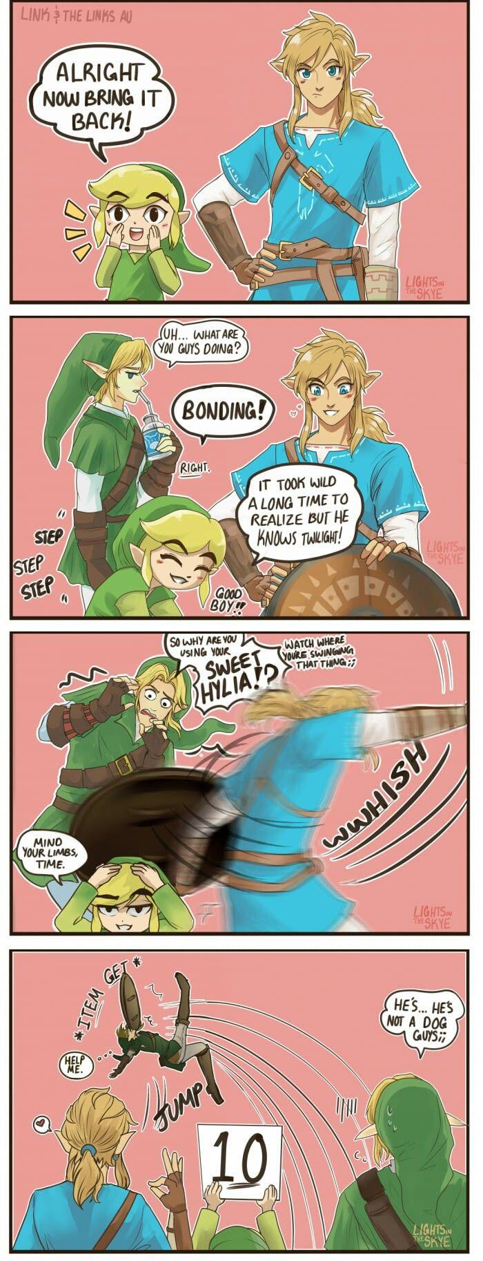 Toon Link, Botw Link and Twilight Link