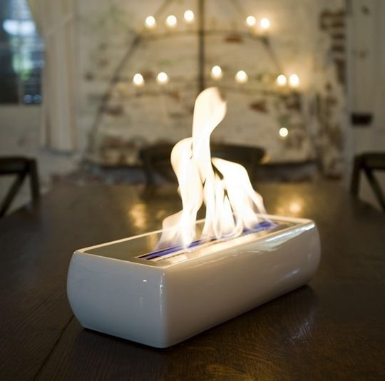 Tabletop Fireplace: Perfect for a smaller house or apartment without room for a fireplace or even for a little potbelly stove.