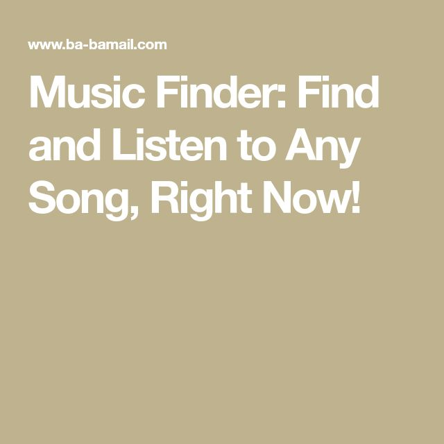 Music Finder: Find and Listen to Any Song, Right Now!