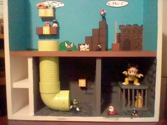 Home made Super Mario playset!