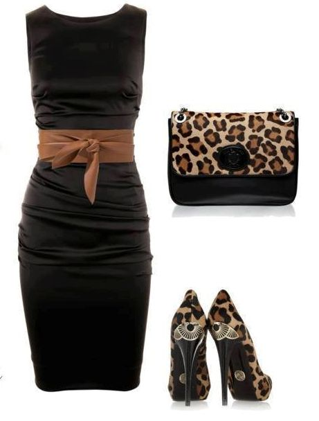 Stunning Leopard Dresses + HOT Leopard Dress Shoe Heels + Adorable Leopard Purse = PERFECT Women's Classy Leopard Outfit!