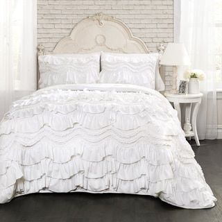 Lush Decor Kemmy White Ruffled Trim 3-piece Quilt Set - Free Shipping Today - Overstock.com - 19720404 - Mobile