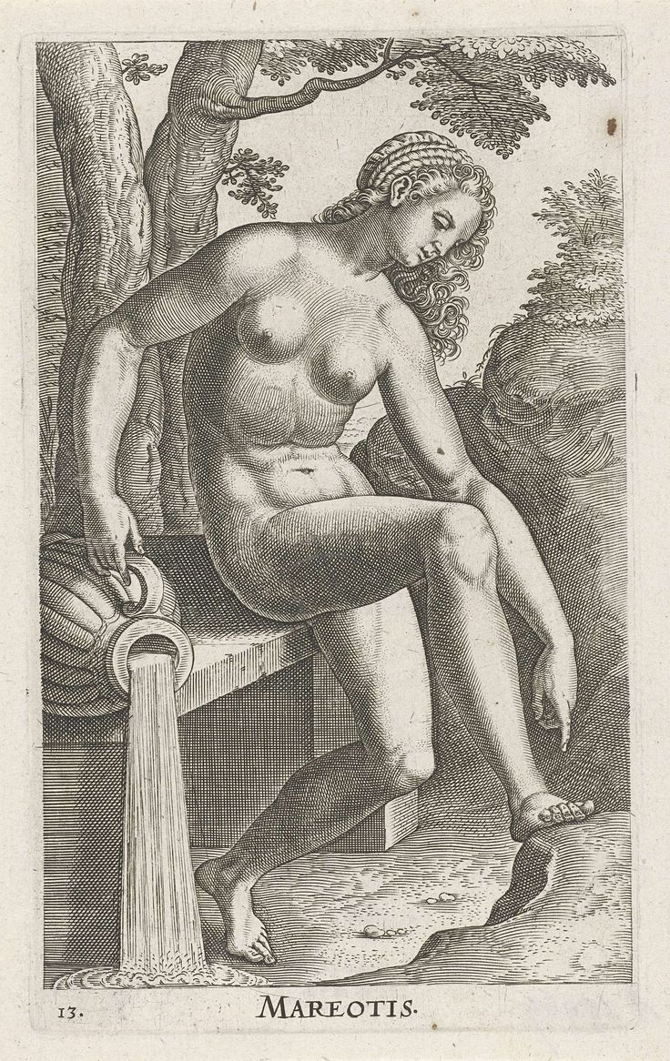 Waternimf Mareotis, Philips Galle, 1587