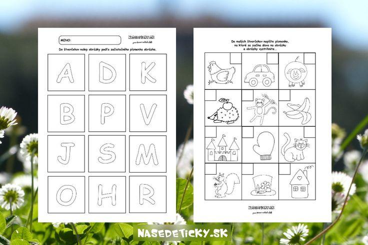 Hráme sa s písmenkami - Aktivity pre deti, pracovné listy, online testy a iné