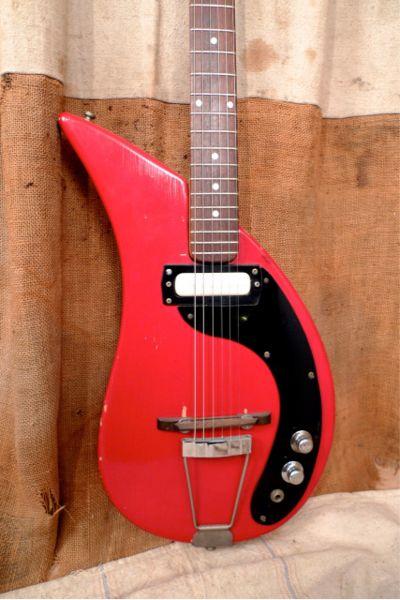 1960's Gruggett Raindrop Vintage Guitar Mosrite Standel | eBay