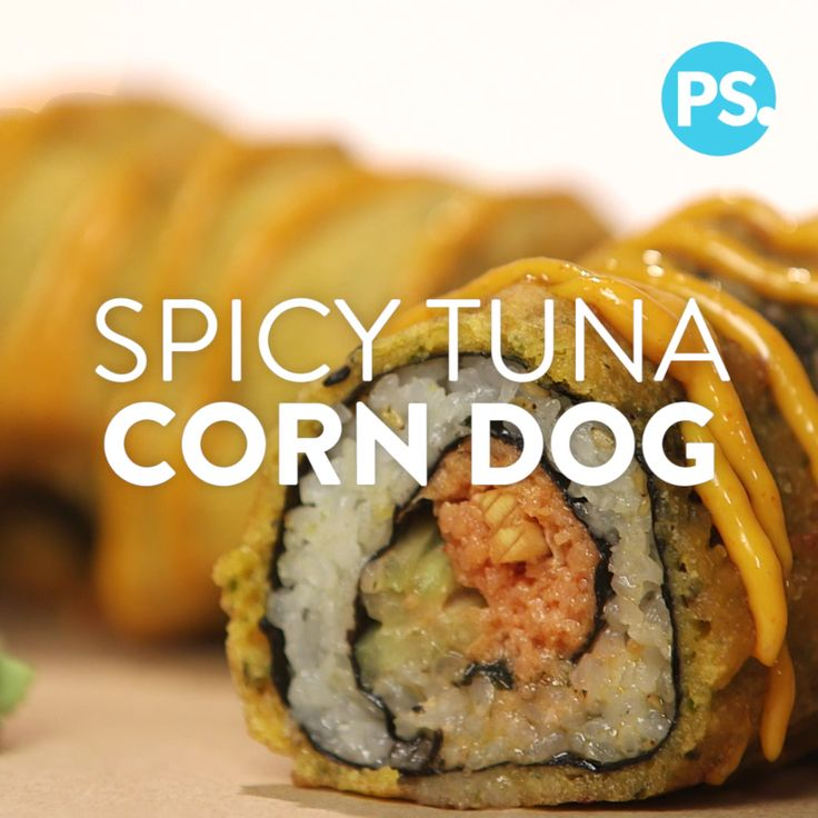 Combine a sushi bar favorite (the spicy tuna roll) and a state fair staple (the corn dog), and you have this crazy mashup, the spicy tuna roll corn dog. While it may sound like a nibble that's out of left field, consider the tempura sushi roll; this is essentially its Americanized cousin. Watch the video to see the tricks to getting the Japanese-inflected batter just right and its outer shell piping hot while keeping the sushi center raw.