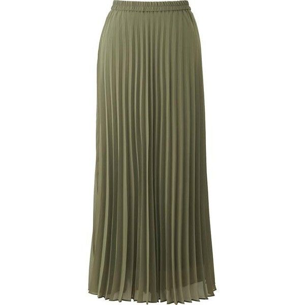 Women's Chiffon Pleated Skirt ❤ liked on Polyvore featuring skirts, pleated chiffon skirt, long crinkle skirt, crinkle skirt, chiffon knee length skirt and chiffon skirts