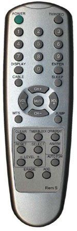 Replacement Remote Control For Sharp Televisions No Programming Needed Sleek Silver Finish by MCM. $19.59. Requires two AAA batteries.. Save 42%!