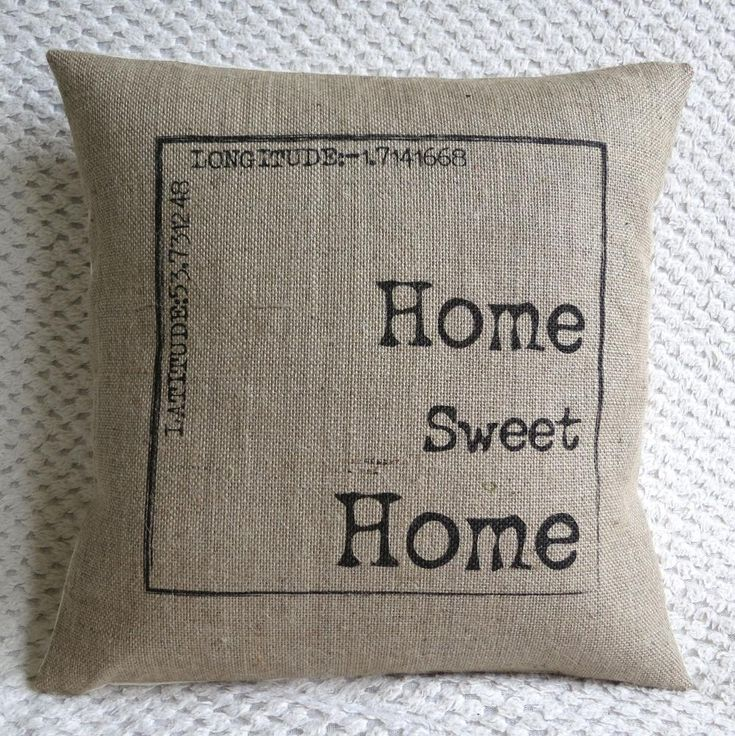 Personalized Home Sweet Home Burlap Pillow Cover... LET THE WINNING PAIR FIND YOUR DREAM HOME 732.207.8154 www.monmouthhomesforsale.com
