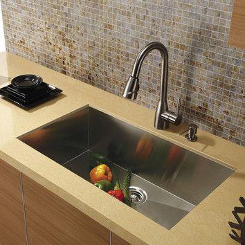 """Vigo 30"""" x 19"""" Stainless Steel Undermount Kitchen Sink, $302"""