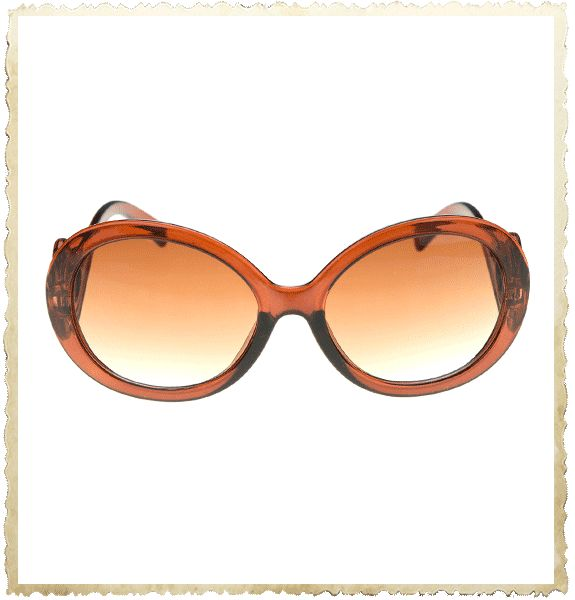 Mooie bruinkleurige zonnebril met vintage stijl krul aan de pootjes. Fijn zo'n zonnebril voor in de auto, op een terrasje, op het strand enz. Zodra je deze zonnebril in je bezit hebt kun je niet wachten tot de eerste zonnestraal verschijnt!