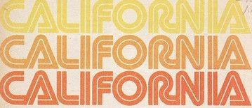 Retro 70s California Font Typeface in Orange & Yellow