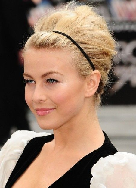 Julianne Hough Hairstyles 2013: Formal Updos for Medium Hair