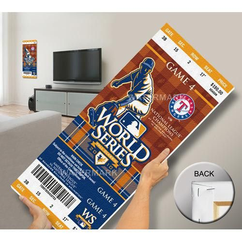 2010 World Series Mega Ticket - Texas Rangers (First World Series)