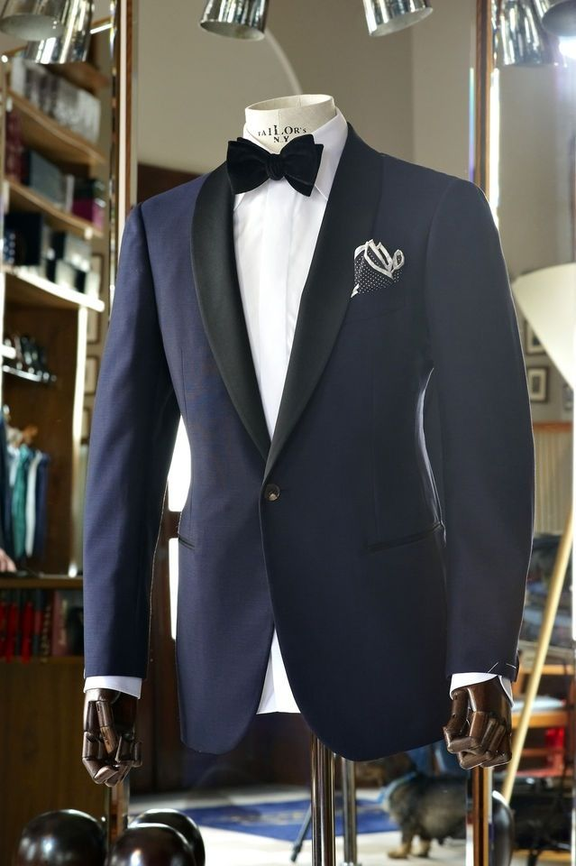 Navy Tux + Bow Tie for #NYE                                                                                                                                                     More