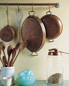 Seriously, @Martha Stewart is a genius. These are all brilliant ideas (47 time-saving organizational tips for the kitchen).