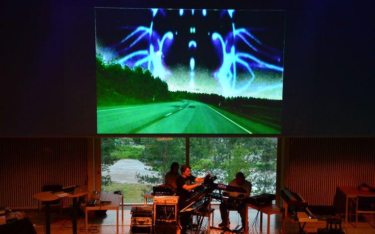 Legendary electronic band Nemesis performing at Ambient Music Conference 2014. Photo: Metsähallitus / Jukka-Pekka Ronkainen