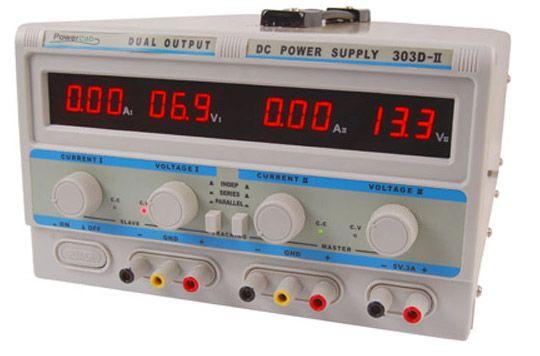 #ZASILACZ SERWISOWY POWERLAB 303D-II 2x30V/3A, 5V/3A LED http://programatory.pl/niezawodny_zasilacz_powerlab.html