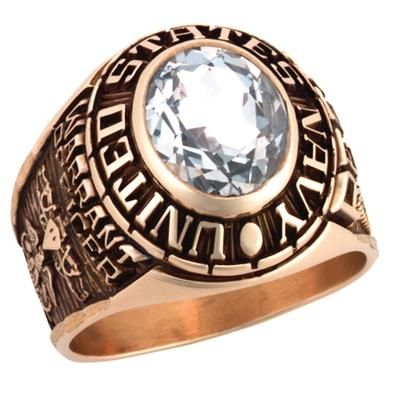 Gold Navy Rings | 10k Solid Gold Navy Rings | US Navy Class Rings