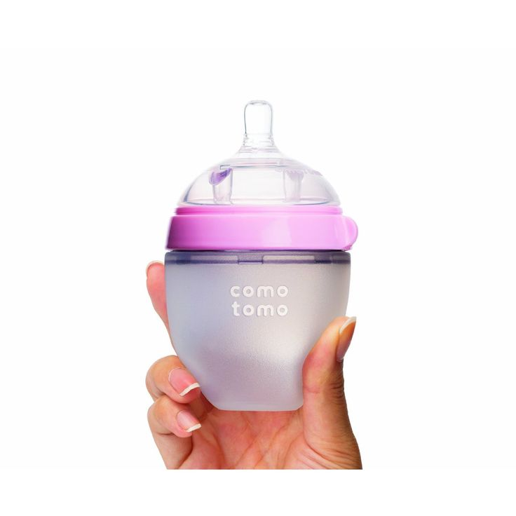 Comotomo Silicone Baby Bottle 150ml 5oz Pink Naturally Shaped Soft S Squeezable Body Ideal For Tfed Babies