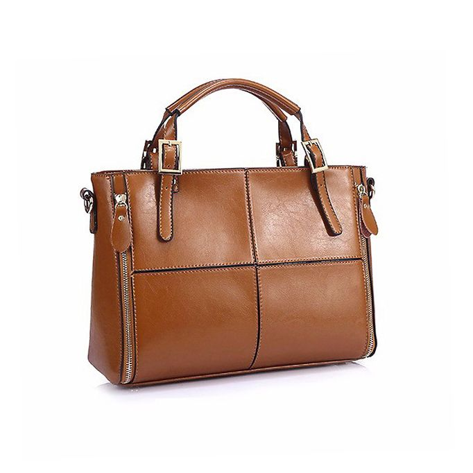 Bruin lederen tas - brown leather bag | Kieke le Chique