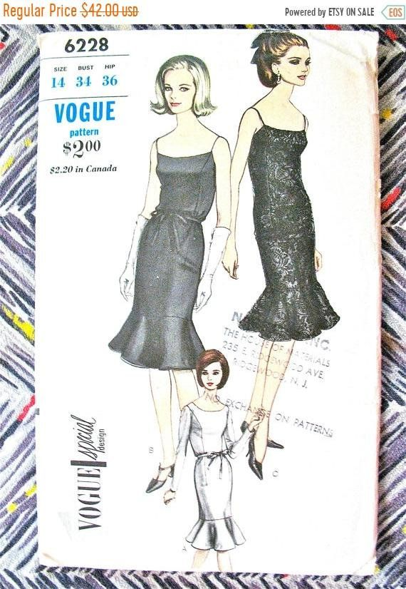 Sale 20 Off Uncut 1960s Vogue Special Design 6228 Vintage Sewing