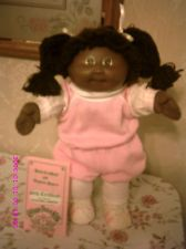 VINTAGE CABBAGE PATCH DOLL RARE BLACK AFRICAN AMERICA GIRL#3+OUTFIT+BIRTH PAPERS