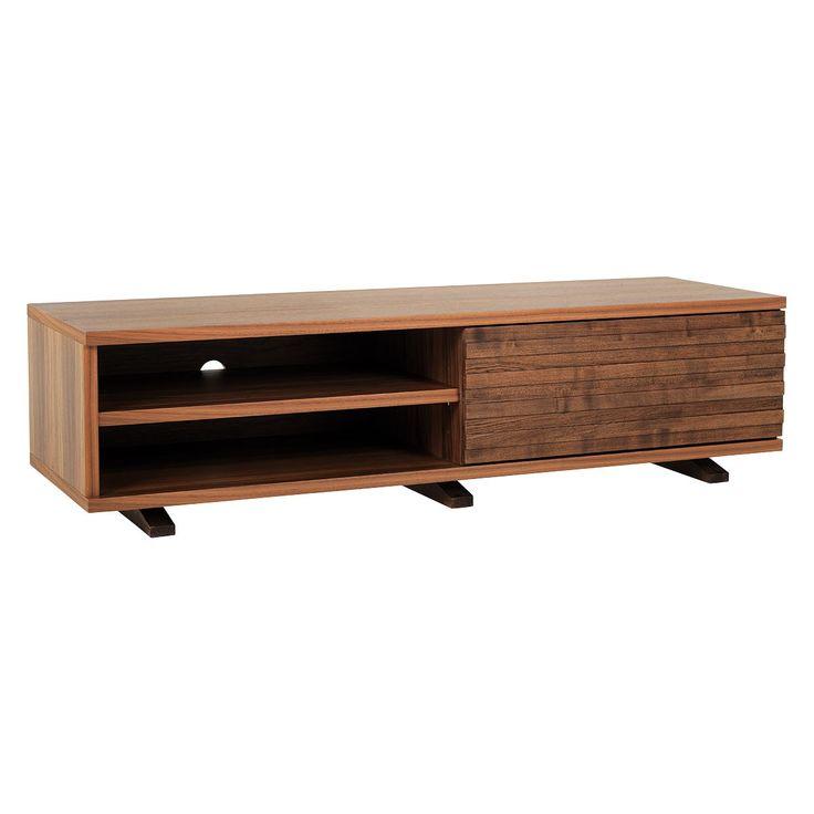 ENZO Walnut TV stand with one storage drawer