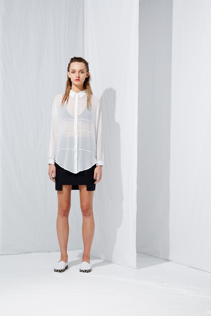 Across All Lines Shirt from the latest L.W.B. collection by Australian fashion designer LIFEwithBIRD Summer'15